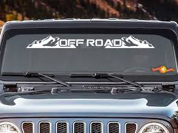 Product Off Road Windshield Banner Decal Back Window Sticker Fits Jeep 4x4 Mud