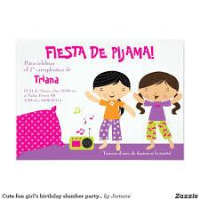 Invitacion De La Fiesta De Pijamas Del Cumpleanos Zazzle Es