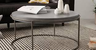 zurn round coffee table concrete