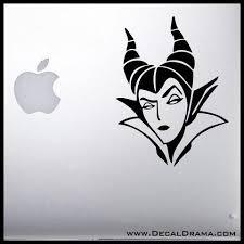 Maleficent Face Scowl Sleeping Beauty Villain Vinyl Car Laptop Decal Personalized Decals Laptop Decal Custom Vinyl