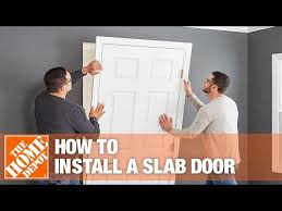 how to install a slab door the home