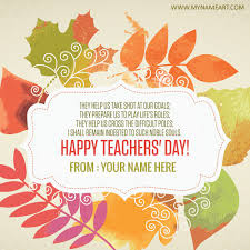write on teachers day wishes picture
