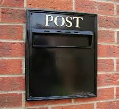 luxury built in post box through wall