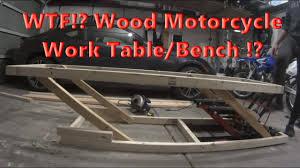 adjule wood motorcycle work table
