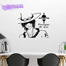 Ace One Piece Wall Decal Vinyl Wall Stickers Decal Decor Home Decorative Decoration Anime One Piece Car Sticker Decorative Home Decor Home Decorvinyl Decal Aliexpress
