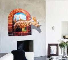 Realistic Scenes Window Giraffe 3d Wall Stickers Cartoon Wallpaper Decals For Sitting Room Cute Wall Decal Kids Wall Stickers Stickers Crayon Sticker Decordecal Tape Aliexpress
