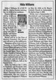 Oct 15 2003 Hilda Williams obit - Newspapers.com