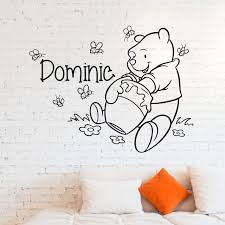 Wall Decals Winnie The Pooh Custom Name Buy Online In Colombia At Desertcart