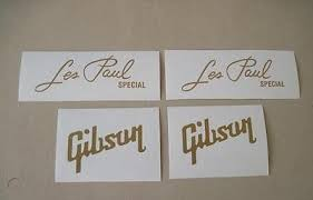 Gold Headstock Guitar Vinyl Decal Gibson Les Special Sticker 511590238