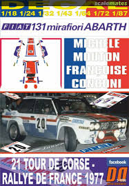 Fiat 131 Abarth To N92971 Champagne Lanson Decal Designers 3 1056 2020