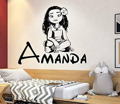 Amazon Com Disney Princess Moana Custom Name Wall Decals For Girls Nursery Decor 4058 Handmade