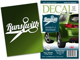 Runs With Scissors Vinyl Decal For Car Or Home Fiberflies Gifts
