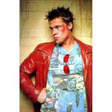 brad pitt red leather jacket men s red