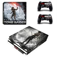 Ps4 Pro Skin Sticker Decal For Playstation 4 Pro Console And 2 Controllers Ps4 Pro Skins Stickers Vinyl Tomb Raider Stickers Aliexpress