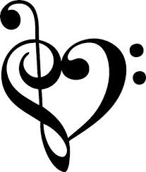 Music Note Heart Window Graphic Vinyl Decal Music Heart Music Note Heart Music Tattoos