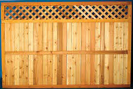 5 4 X 8 Cedar Diamond Lattice Top Wood Fence Panel At Menards