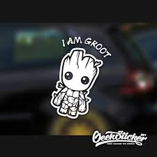 Cartoon Cute I Am Groot Waterproof Reflective Universal Body Sticker Vinyl Warning Sticker Motorcycle Sticker Car Shape 2 Colors Car Stickers Aliexpress
