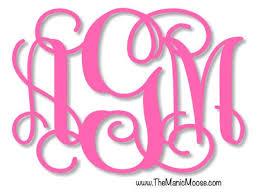 Hot Pink Monogram Car Decal Interlocking Monogram Etsy
