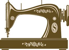 Vintage Sewing Machine Wall Sticker Tenstickers