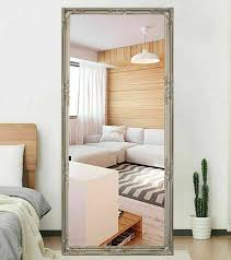 silver frame big mirrors tray wall cool