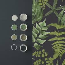 Midsummer Fern Black Wallpaper - GrahamBrownCA