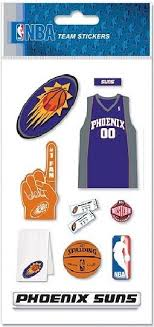 Phoenix Suns National Basketball Association Jolee S Boutique Nba Scrapbook Stickers Ek Success Br Font Color Red