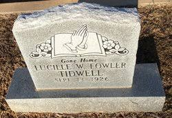 Wilma Lucille Fowler Tidwell (1926-Unknown) - Find A Grave Memorial