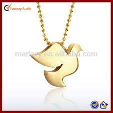solid thick gold plated peace dove