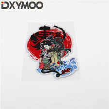 Car Styling Vinyl Decal Wave Japanese Sun Dong Ying Singer Auto Exterior Sticker Accessories Leather Bag