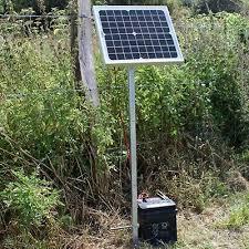 Weatherproof Solar Panel Kit 12v Battery Charger Electric Fence Horse Energizer Ebay
