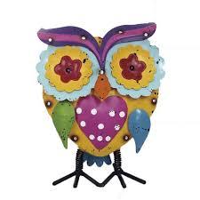 enchanted garden 10 metal owl statue