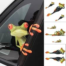 2pcs New 3d Frogs Funny Car Stickers Car Styling Vinyl Decal Sticker Decoration Wish