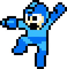 Mega Man Classic Decal Removable Wall Sticker Decor Art Megaman Retro Game Room Retro Games Room Mega Man Pixel Art