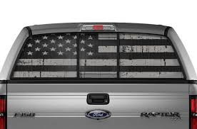 Ford F150 Rear Window Decals Subdued Flag Racerx Customs Truck Graphics Grilles And Accessories