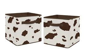 Sweet Jojo Designs Cowboy Wild West Boy Small Fabric Toy Bin Storage Box Chest For Baby Nursery Or Kids Room Tan And Red Western Southern Country Baby Nursery