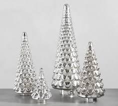 mercury glass trees pottery barn