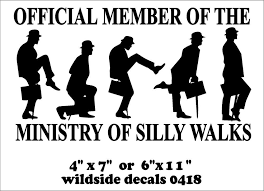 Funny Monty Python Quote Decal Official Member Silly Walks Vinyl Window Sticker Python Quotes Monty Python Quote Decals