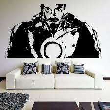 Tony Stark From Movie Iron Man Robot Wall Sticker Boy S Room Decoration Creative Vinyl Wall Decal Stickers Boy Robot Wall Stickersvinyl Wall Decals Aliexpress