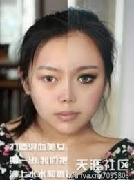 asian half face makeup saubhaya