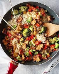 tofu and veggie noodle stir fry recipe