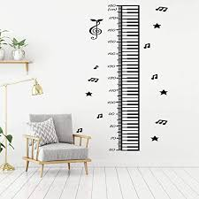 Amazon Com Americanvinyl Height Growth Chart Music Note Wall Decal Height Measure Ruler Decal Height Chart Music Wall Art Vinyl Sticker Children Room Kids Room Made In Usa Home Kitchen