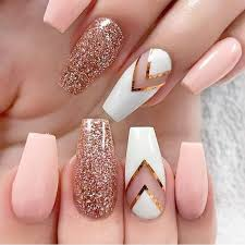 acrylic nails with designs and cool