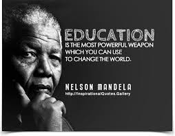 nelson mandela quotes education is the most powerful weapon image