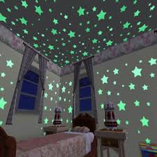 Keythemelife 100 Pcs Lot Stars Wall Stickers Decal Glow In The Dark Baby Diy Bedroom Decor Luminous Fluorescent Wall Sticker Ca Star Wall Stickers Star Wallfluorescent Wall Stickers Aliexpress