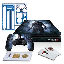 Uncharted 4 A Thief S End Ps4 Slim Horizontal Console And Controller Gaming Skin Pack Officially Licensed