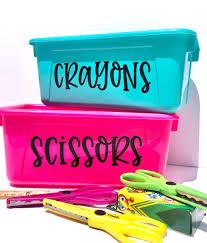 Classroom Labels Teacher Vinyl Decals For Cubby Or Bin Decals For School Teacher Or Daycare Classroom Management School Decor