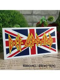 Def Leppard Rock Hipster Graphic Art Waterproof Vinyl Decal Sticker Skullangel Unique Handmade Clothing Embroidered Patches Waterproof Stickers For Diy Projects