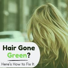 how to fix blonde hair turned green
