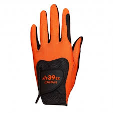 fit 39 ultimate golf glove orange black