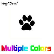 Paw Print Sticker Cute Dog Cat Decal Pet Decoration Paw Window Car Suv Wall Ebay
